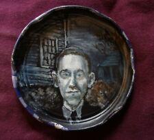 H.P LOVECRAFT, Jam Jar Lid Portrait, Horror, Outsider Folk Art by PETER ORR