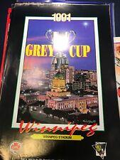 RARE Winnipeg - 1991 Grey Cup Champions Poster CFL P1