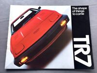 1976 Triumph TR7 12-page Original Car Sales Brochure Catalog