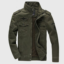NEW Men Casual Air Force Military Jacket Stand Collar Coat Tactical Outwear TOPS