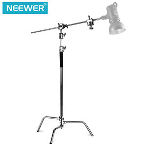 Neewer 10ft/305cm Reflector Light C Stand Boom Arm Grip Head Kit f Studio Video