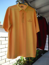 Mens Large Shirt_ANGELES NATIONAL GOLF CLUB_Monterey_Striped Yellow_Polyester_L