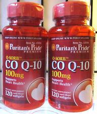 Puritan's Pride Q-SORB Co Q-10 CoQ10 CO-Q10 100mg 240 Softgels - Exp 08/2020