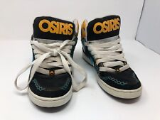 MENS OSIRIS BRONX SHOES ULTRA BLUE & ORANGE SKATER SIZE 8 US
