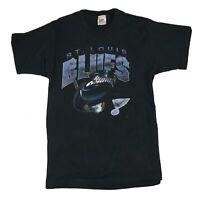 VTG 90s St. Louis Blues T-Shirt NHL Hockey Big Logo Sz Medium