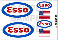 ESSO GAS GASOLINE HO SCALE 1/87 LAYOUT MODEL TANKER BOX CAR TRUCK DECALS HOEG1