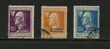 Italian Somaliland  1927  #97-9   Volta  OVERPRINTED  3v.  used   K109