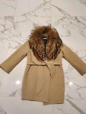 Oversized Winter Coat With Raccoon Collar