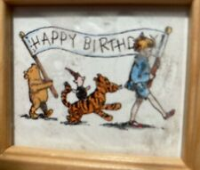 Pooh, Tigger, Piglet, Christopher Robin Birthday Parade Mini Picture Wood Frame