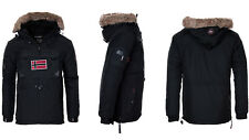 Geographical Norway Men's Warm Winter Jacket Pullover Parka Windbreaker 3xl Black