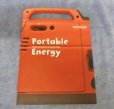 Honda Portable Energy Leisure Generators & Pump Range EU10i EU20i WX10