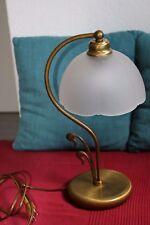 Antike italienische Schreibtischlampe  Messing mit Alabasterglas 50er Jahre