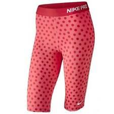 "NIKE PRO Women's 11"" Compression Training Shorts Orange Dots XS 643375/654 $40"