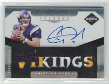 CHRISTIAN PONDER 2011 PANINI LIMITED 3 CLR PATCH AUTO 25/25 EBAY 1/1? VIKINGS
