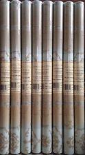 8 x Antonina Vella Double Roll Fine Wallpaper Cream Blue Scroll Unpasted BQ0816