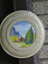Vintage Chimney Flue Hole Cover Barn Haystack & Silo Scene Metal