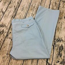 Levis Mens Vtg Dress Pants Sz 39W/29L Sky Blue White Tab 70s 80s Flap Trousers