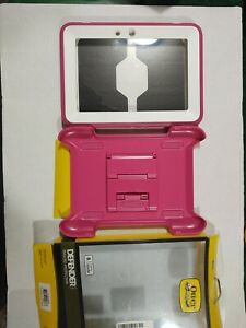 """OtterBox Kindle Fire HD 7"""" 2012 Defender Case/Stand Pink White Cover New"""