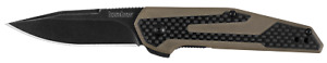 Kershaw Fraxion 1160TANBW Drop Point Folding Knife, Tan