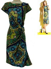 14W 1X SEXY Womens CHAIN PRINT TWIST DRESS Spring Summer Party Wedding PLUS SIZE