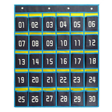 Numbered Classroom Pocket Chart Hanging Organizer Cell Phones Calculator Holders