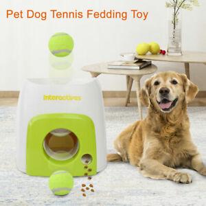 Automatic Interactive Dog Pet Tennis Ball Treat Toy Fetch Hyper Feeding Reward