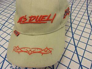 Vintage YuGiOh! LET'S DUEL Adjustable Baseball Hat CAP KING OF GAMES NWOT KHAKI