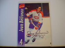 JEAN BELIVEAU HAND SIGNED AUTO AUTOGRAPH HOCKEY MOLSON CARD MONTREAL CANADIANS