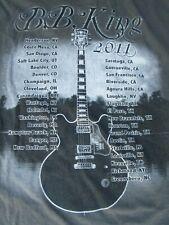 B.B. King Blues R&B Tour T-Shirt, Faded Brown Cotton, Men's Xl, Austin 2011 Used