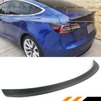 FOR 2017-2020 TESLA MODEL 3 MATT FINISH CARBON FIBER TRUNK LID SPOILER LONG VER.