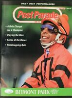 Angel Cordero Jr Jockey Autograph 1992 Post Parade Belmont Signed Program JSA