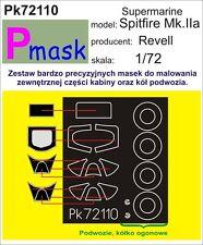 SUPERMARINE SPITFIRE MK.IIaPAINTING MASK TO REVELL KIT #72110 1/72 PMASK