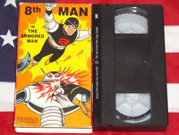 8th Man - The Armored Man (VHS, 1966) Animated Cartoon Anime Manga RARE