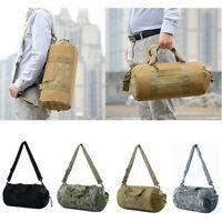 Tactical Handbag Military Molle Duffle Bag Travel Shoulder Gym Pack Cylinder Bag