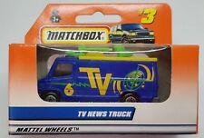 MATCHBOX MB3 TV NEWS TRUCK MATTEL WHEELS BLUE & YELLOW - NEW in UNOPENED BOX