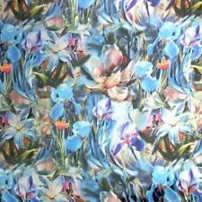 By Meter Digital Printed 100% Pure Silk Chiffon Fabric Sheer- Flowers Free Zip