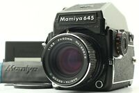 【N MINT  / 2Back + Strap】 Mamiya M645 1000S + C 80mm F2.8 CDS Prism Finder JAPAN