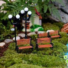 Cute Mini Miniature Park Seat Bench Dollhouse Decor Craft Garden Ornament