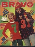BRAVO Nr.1 vom 3.1.1973 mit Riesenposter Charles Bronson, Enterprise, Santana...