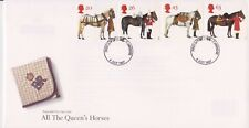 UNADDRESSED GB ROYAL MAIL FDC 1997 THE QUEEN'S HORSES STAMP SET TONBRIDGE PMK