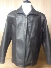Intersting Columbia Brown Leather Coat, Men's L(fits large see measurements)