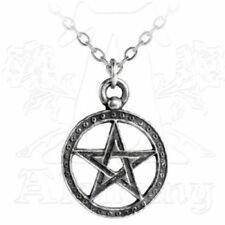 *DANTE'S HEX* Alchemy Gothic 1977 Mediaeval Pentagram Pewter Pendant (P235)