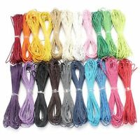 21 Colors 10Mtrs 1mm or 1.5mm Waxed Cotton Cord Jewellery Making