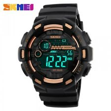 SKMEI 1243 GOLD WITH RUBBER STRAP WATCH FOR MEN - COD FREE SHIPPING