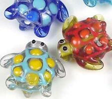 Lampwork Handmade Colorful Turtle Beads (5)