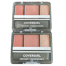 2 - Covergirl Instant Cheekbones Contouring Blush #210 Peach Perfection - New