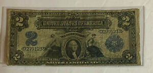 1899 $2 SILVER CERTIFICATE ~ Lyons - Roberts Signature Combination