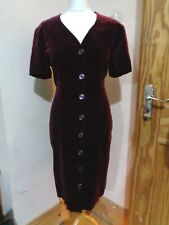 Red Cotton Velvet Pencil Dress SIZE 16