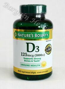 Nature's Bounty D3 125mcg (5000iu) Supports Strong Bones & Teeth Exp: 10/2022