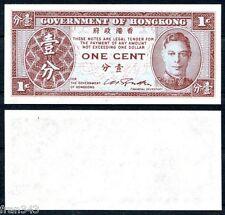 HONG KONG 1 Cent 1945 Pick 321  SC /  UNC